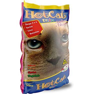 Ração Hot Cat Mix Gatos Adultos E Filhotes 25kg