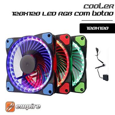 Cooler Fan Rgb Multi Cores C/21 Leds 120mm P/gabinete Pc Cpu