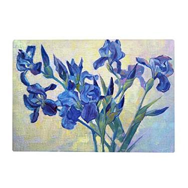 Imagem de ColourLife Quebra-cabeça de arte presente para adultos, adolescentes, pintando íris flores, jogos de quebra-cabeça de madeira, 500 peças, multicolorido