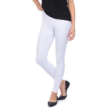 Imagem de Lyssé legging feminina de algodão e tornozelo, Branco, Small
