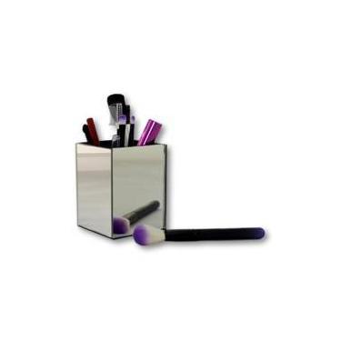 Porta Pincéis De Maquiagem Organizador Make Espelhado