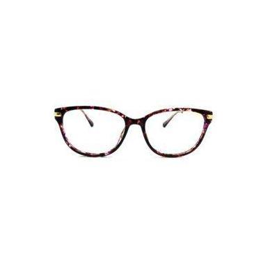 b391a636a Óculos de grau Rafaello RFA018 Acetato c/ Alumínio Roxo Mesclado com Preto  - Armação