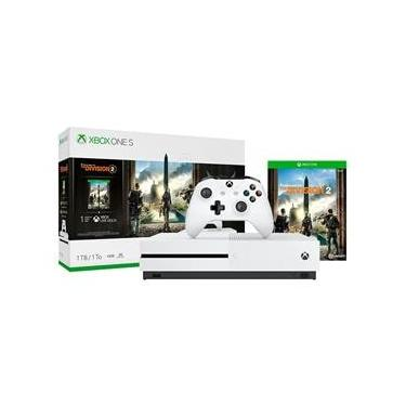 Console Xbox One S 1TB + Jogo The Division 2 (Download via Xbox Live)