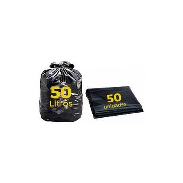 Saco De Lixo 50 Litros Pok Reforcado Com 50 Unid 63 X 80 Cm