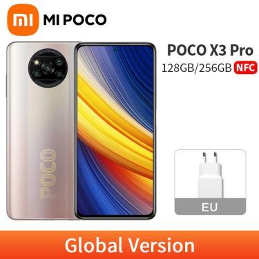 Imagem de Poco x3 pro-celular nfc versão global, 6gb, 128gb, 8gb, 256gb, telefone móvel, 120hz, snapdragon