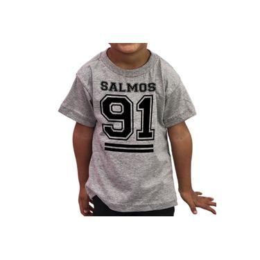 Camiseta Infantil Evangélica Gospel Salmos 91 - Algodão