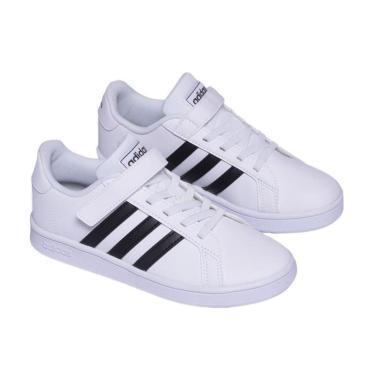 Tênis Adidas Grand Court C Infantil branco unissex