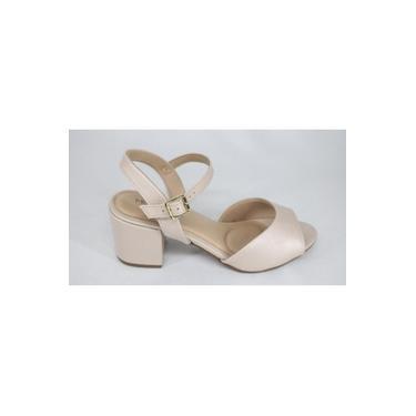 Sandália Modare Salto Médio Creme