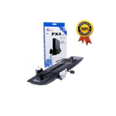 Base Suporte Vertical c/ Cooler USB Carregador p/2 Controles PS4 Slim FR-374 - Feir