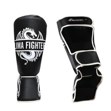Caneleira Protetora Pitbull Lima Fighter Muay Thai Luta Preto M