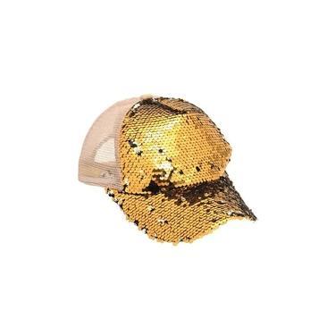 Acessório Boné com Paetê Ouro 18X15X27 com 1 Unidade