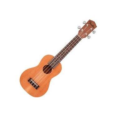 Ukulele Fender Pihaeu Soprano Acustico Natural Mahogany