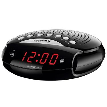 Rádio Portatil Mondial Sleep Star III, Rádio AM/FM, Alarme, 5W - Preto