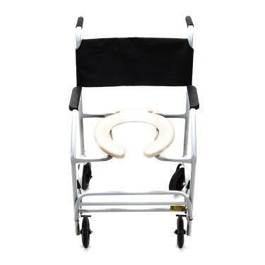 Cadeira de Rodas CDS Banho Modelo 201 Semi-Obeso Banho e Sanitário Adulto, com Assento Anatômico Removível, Fixa, Freios Bilaterais, Pneus Maciços