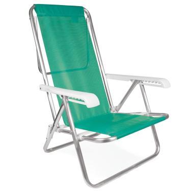 Cadeira Alta Reclinável de Alumínio Mor, 8 Posições - 2271