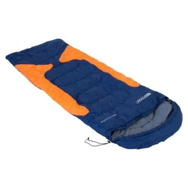 Imagem de Saco De Dormir Freedom Para Camping-1,5ºc À -3,5ºc Azul E Laranja - Na