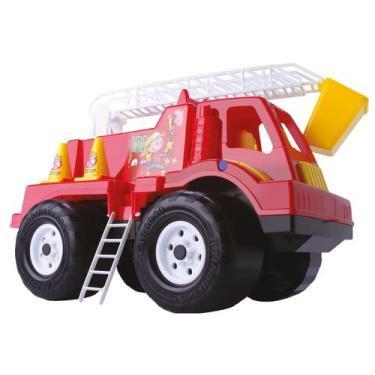Imagem de Mini Caminhão Infantil Tandy Bombeiro - Brinquedos Cardoso