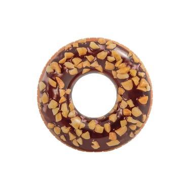 Acessórios de Praia e Piscina - Bóia Redonda - 114 Cm - Rosquinha Donut - Chocolate - Intex