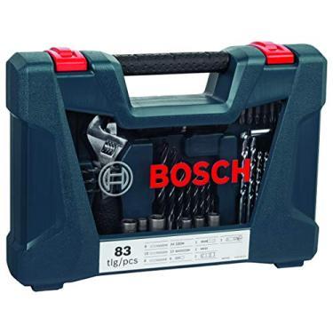 Kit de Pontas e Brocas Bosch V-Line para parafusar e perfurar com 83 unidades