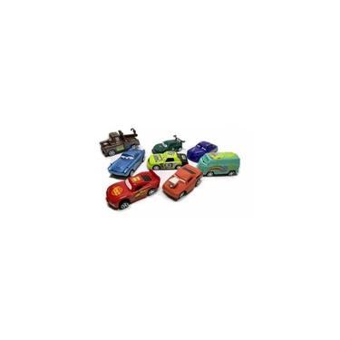 Imagem de Coleção 8 Carrinhos Carros 3 Mcqueen Car Fricção