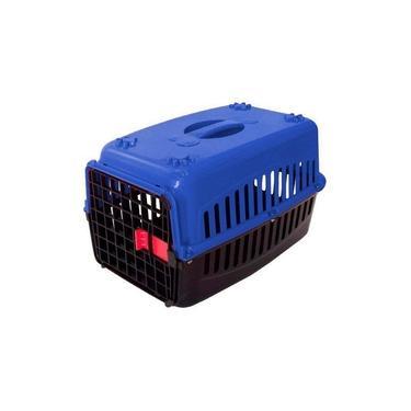 Caixa De Transporte Plática Para Pets-Azul