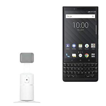 Suporte e suporte para BlackBerry Key2, BoxWave [PivotTrack360 suporte para selfie] suporte de pivô de rastreamento facial para BlackBerry Key2 – Branco inverno