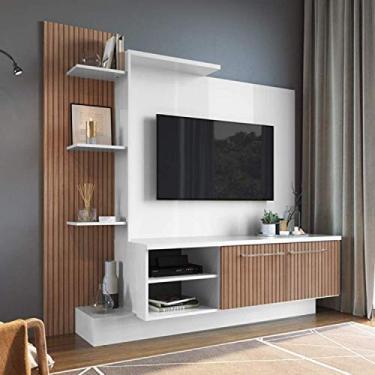 Estante Home para Tv até 52 Polegadas 2 Portas Es110 Decibal Branco/milano