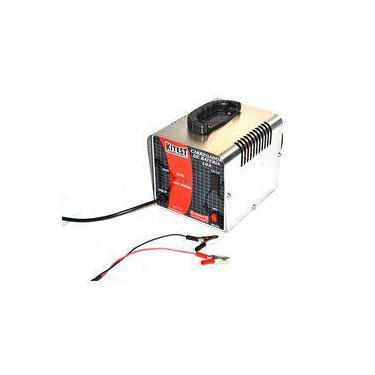 Carregador de bateria kitest 10 amperes 110 220 volts com indicadores de leads