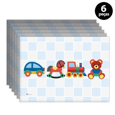 Imagem de Jogo Americano Mdecore Brinquedos Azul 6pçs