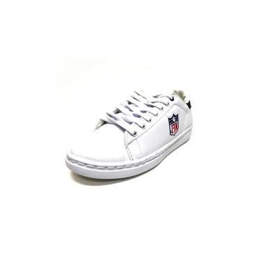Tenis Sapatenis NFL Logo Branco  masculino