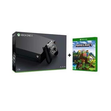 Console Xbox One X 1TB 4K+ Controle sem Fio + Minecraft