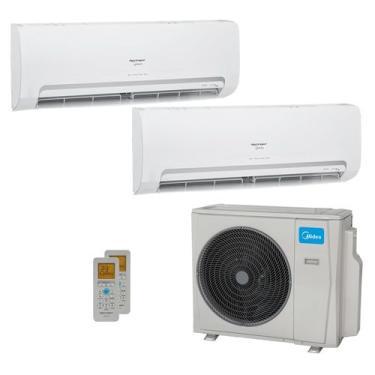 Ar-Condicionado Multi Split Inverter Springer Midea 18.000 BTUs (1x Evap HW 9.000 + 1x Evap HW 12.000) Quente/Frio 220V