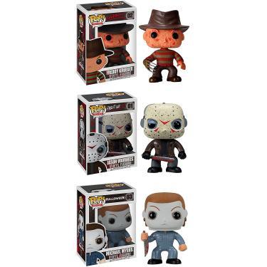 Imagem de Funko Horror Classics POP Filmes Colecionadores Set: Freddy Krueger, Jason Voorhees, Michael Myers Action Figure