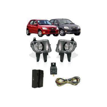 Kit Farol De Milha Neblina Chevrolet Novo Celta Prisma 2012 2013 2014 2015 - Interruptor Modelo Original