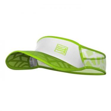 Viseira Ultralight Spiderweb Verde/Branco - Compressport