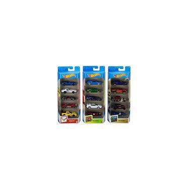 Imagem de Pacote de 5 pacotes Hot Wheels Variety Fun de 15 veículos em escala 1:64 com Corveta de 3 temas, hw Exotics, hw Legends para colecionadores e crianças com 3 anos de idade ou mais Exclusivo da Amazon