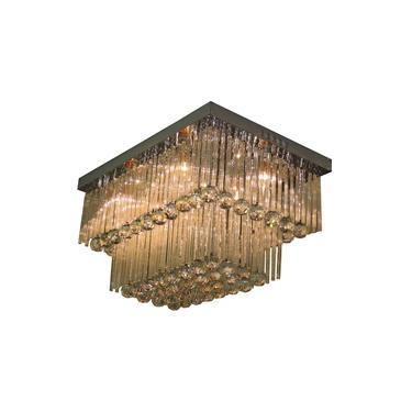 Lustre Cristal Diamante 1529/400-600 Retangular 436W Bivolt Prata