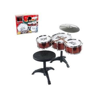 Bateria Musical Rock Com Banqueta Na Caixa 8508207