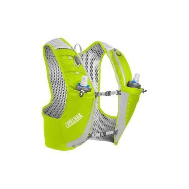 Mochila de hidratação CamelBak Ultra PRO Vest 1 litro desenhada para corridas de trail running e corrida em geral Amarel