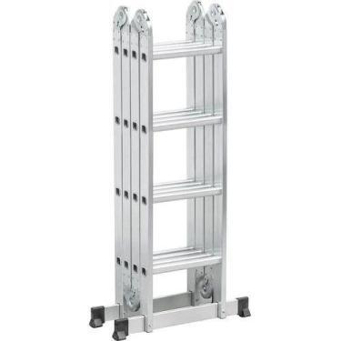 Escada Articulada Alumínio 8 Em 1 Multifuncional Worker 4x4