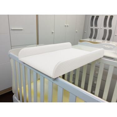 Trocador de Fraldas Almofadado para Berço Corino Branco - Phoenix Baby