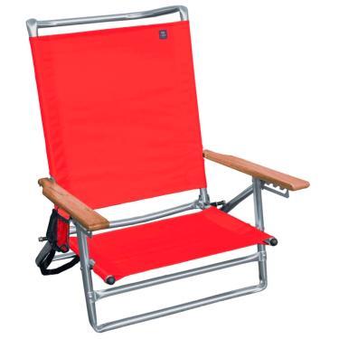Cadeira Malibu Com Braços De Madeira + Porta Copos Cor Sortida Bel Fix