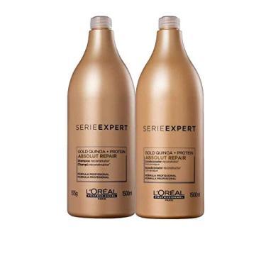 Kit Loreal Absolut Repair Gold Shampoo 1500ml E Condicionador 1500 Ml