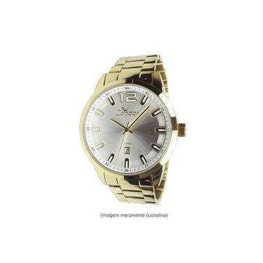9c7a786f6ec Relógio Condor Masculino Dourado Com Prata Ref. Co2115uf 4k