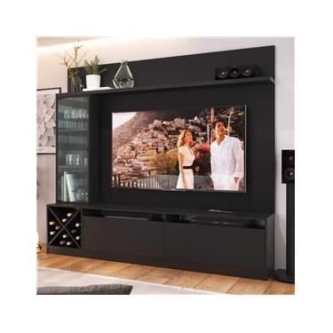 Estante Home Para TV até 50 Polegadas 1 Porta de Vidro Sorrento Quiditá Preto
