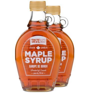 Kit 2 Xarope de bordo Maple Syrup 250ml Taste & Co