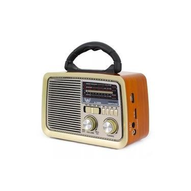 Radio Retro Am Fm Entrada Usb Cartão Sd Aux Pendrive Altomex A-3088