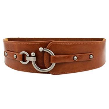 VALICLUD A Forma Das Mulheres Cinto Elástico Cinto Wide Elástico Estique Cintura Do Vintage para As Mulheres Se Vestem (M)