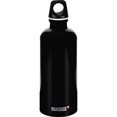 Garrafa de água Sigg – Viajante – Preta – Caixa com 6 – 0,6 litros