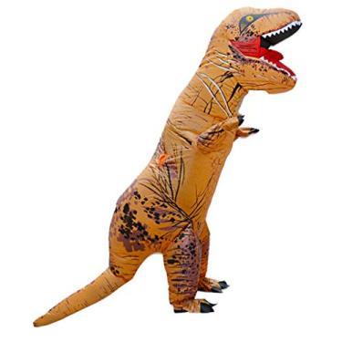 Imagem de MEIYIN Fantasia inflável de Halloween de Tiranossauro Dinossauro Blow Up Cosplay Macacão